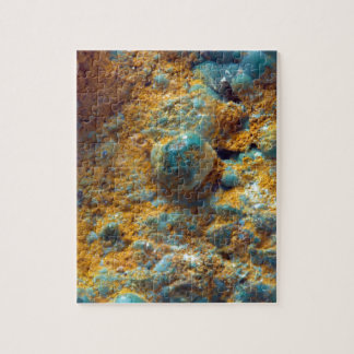 Bubbly Turquoise with Rusty Dust Jigsaw Puzzle