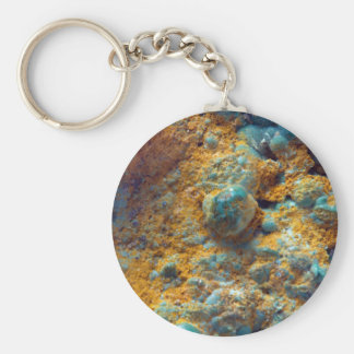 Bubbly Turquoise with Rusty Dust Keychain