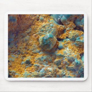 Bubbly Turquoise with Rusty Dust Mouse Pad