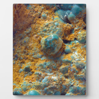 Bubbly Turquoise with Rusty Dust Plaque