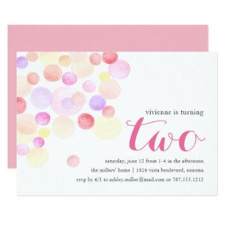 Bubbly | Watercolor Second Birthday Invitation