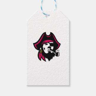 Buccaneer Smoking Pipe Retro Gift Tags