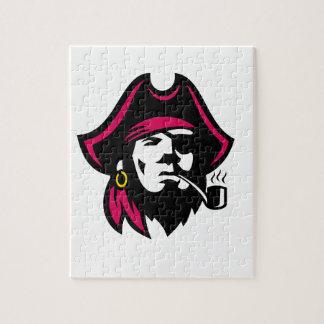 Buccaneer Smoking Pipe Retro Jigsaw Puzzle