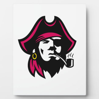 Buccaneer Smoking Pipe Retro Plaque