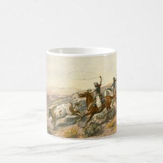 Buccaroos by Charles Marion Russell Coffee Mug