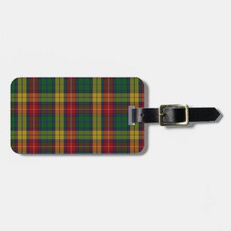 Buchanan Clan Family Tartan Bag Tag