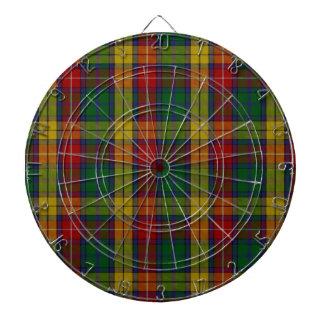 Buchanan Clan Family Tartan Dartboard With Darts