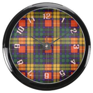 Buchanan clan Plaid Scottish tartan Aquarium Clocks