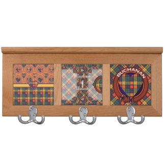 Buchanan clan Plaid Scottish tartan Coat Racks