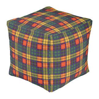 Buchanan clan Plaid Scottish tartan Cube Pouf