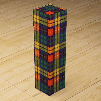 Buchanan clan Plaid Scottish tartan Wine Gift Boxes