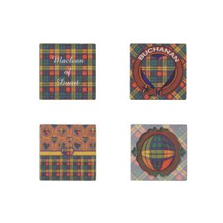 Buchanan clan Plaid Scottish tartan Stone Magnets