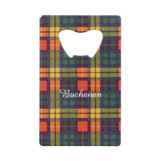Buchanan clan Plaid Scottish tartan Wallet Bottle Opener