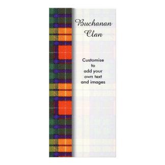 Buchanan clan Plaid Scottish tartan Rack Card Template