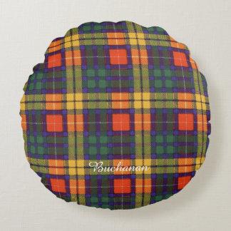 Buchanan clan Plaid Scottish tartan Round Pillow