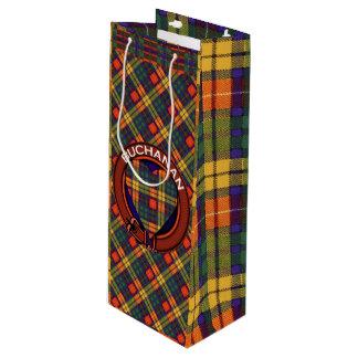 Buchanan clan Plaid Scottish tartan Wine Gift Bag
