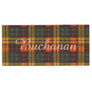 Buchanan clan Plaid Scottish tartan Wood USB 3.0 Flash Drive