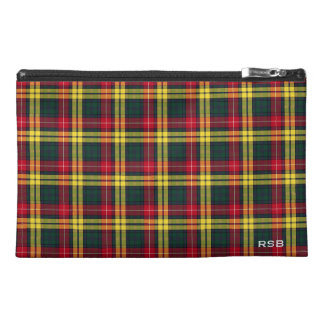 Buchanan Clan Tartan Monogram Travel Accessory Bag