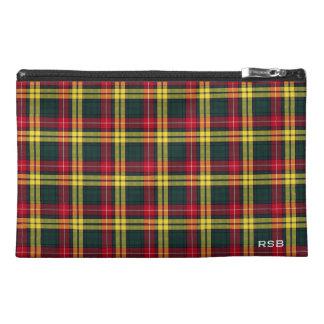 Buchanan Clan Tartan Monogram Travel Accessory Bags