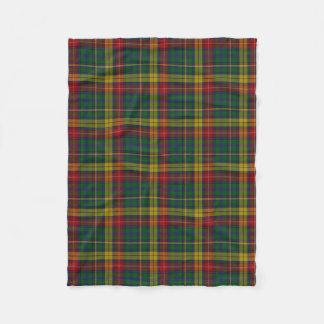 Buchanan Clan Tartan Plaid Fleece Blanket