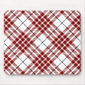 Buchanan clan tartan red white plaid mouse pad