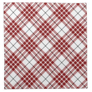 Buchanan clan tartan red white plaid printed napkins