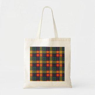 Buchanan Family clan Plaid Scottish kilt tartan Budget Tote Bag