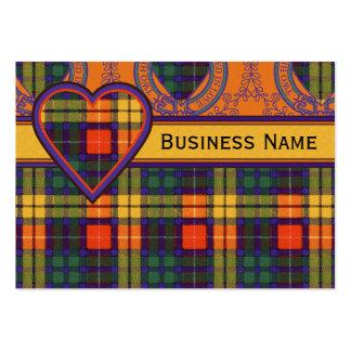 Buchanan Family clan Plaid Scottish kilt tartan Large Business Cards (Pack Of 100)