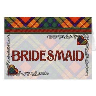Buchanan Family clan Plaid Scottish kilt tartan Greeting Card