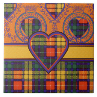 Buchanan Family clan Plaid Scottish kilt tartan Ceramic Tile