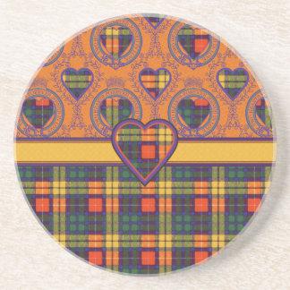 Buchanan Family clan Plaid Scottish kilt tartan Drink Coaster