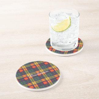 Buchanan Family clan Plaid Scottish kilt tartan Drink Coasters