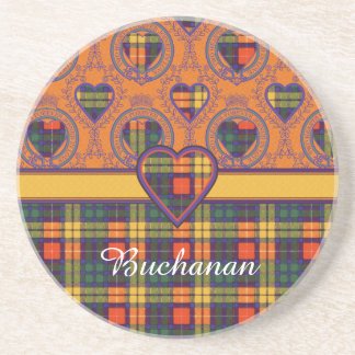 Buchanan Family clan Plaid Scottish kilt tartan Beverage Coaster