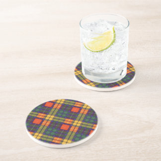 Buchanan Family clan Plaid Scottish kilt tartan Coasters