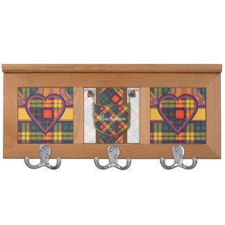 Buchanan Family clan Plaid Scottish kilt tartan Coat Racks