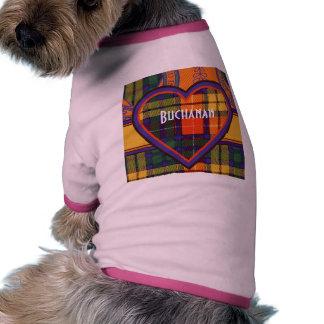 Buchanan Family clan Plaid Scottish kilt tartan Dog Tee Shirt