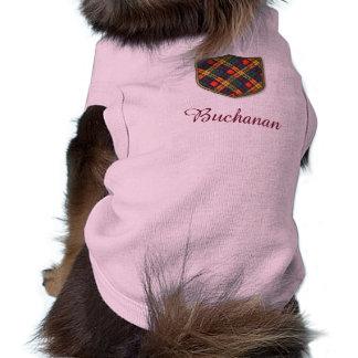 Buchanan Family clan Plaid Scottish kilt tartan Doggie T Shirt