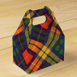 Buchanan Family clan Plaid Scottish kilt tartan Favor Box