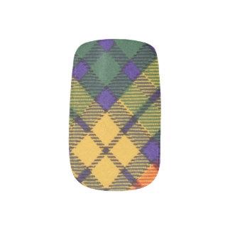 Buchanan Family clan Plaid Scottish kilt tartan Fingernail Decal