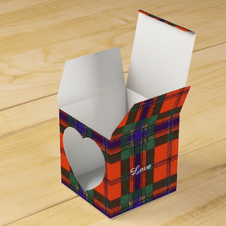 Buchanan Family clan Plaid Scottish kilt tartan Favor Boxes
