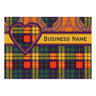Buchanan Family clan Plaid Scottish kilt tartan Large Business Card