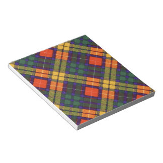 Buchanan Family clan Plaid Scottish kilt tartan Memo Pad
