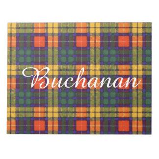 Buchanan Family clan Plaid Scottish kilt tartan Note Pad