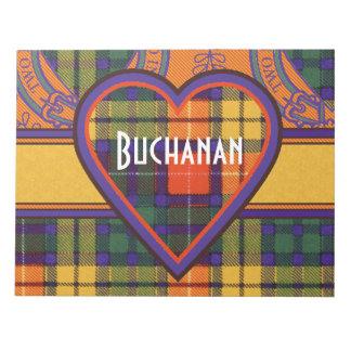 Buchanan Family clan Plaid Scottish kilt tartan Notepads