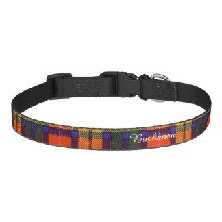 Buchanan Family clan Plaid Scottish kilt tartan Pet Collar