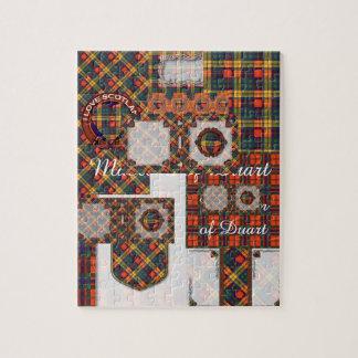 Buchanan Family clan Plaid Scottish kilt tartan Puzzle