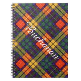 Buchanan Family clan Plaid Scottish kilt tartan Spiral Note Book