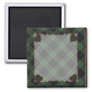 Buchanan Family clan Plaid Scottish kilt tartan Square Magnet