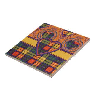 Buchanan Family clan Plaid Scottish kilt tartan Ceramic Tiles