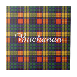 Buchanan Family clan Plaid Scottish kilt tartan Tile